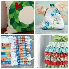 Sew Amazing Holiday Gifts : 25 Easy To Sew Handmade Gifts