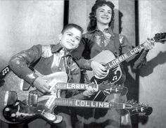 "The Collins Kids were a rockabilly duo featuring Lawrencine ""Lorrie"" Collins (born May 7, 1942) and her younger brother Lawrence ""Larry"" Collins (born October 4, 1944). Their hits in the 1950s as youngsters, such as ""Hop, Skip and Jump"", ""Beetle Bug Bop"" and ""Hoy Hoy"", were geared towards children, but their infectious singing and playing crossed over generations. Larry, a lightning-fingered guitar whiz at age 10, was known for playing a double-neck Mosrite guitar like his mentor, Joe…"