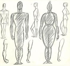 How to Draw the Human Figure : Drawing Body, Head, Facial Features « How to Draw Step by Step Drawing Tutorials
