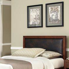 Update the look of your bedroom with the Duet panel headboard with brown leather inset from Home Styles. This headboard is sized for king- or California king-size beds, and it features a cherry finish for a bold look. It's also padded for extra comfort.