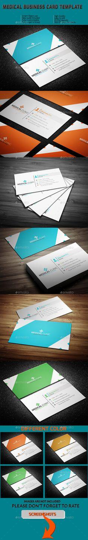 Medical Business Card Template #design Download: http://graphicriver.net/item/medical-business-card-template/11408648?ref=ksioks