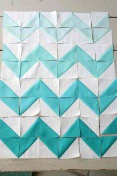 DIY triangle chevron quilt