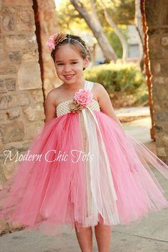 Navy, Pink and Ivory Vintage Tutu Dress | Tutus | Pinterest | Girl ...