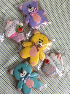 = Teddy Bear Cookies, Baby Cookies, Baby Shower Cookies, Iced Cookies, No Bake Cookies, Cupcake Cookies, Christmas Sugar Cookies, Gingerbread Cookies, Baby Candy