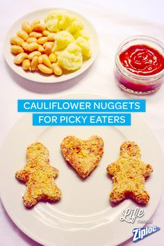 Getting kids to eat more vegetables can be tricky. Try this cauliflower nuggets recipe with hidden health food picky eaters will never recognize! Use any cookie cutter to turn them into fun shapes. Use Ziploc® bags for an easy carpool snack.
