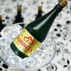 Mini Champagne Bubble Favors by Beau-coup, Non-alcoholic for kiddos