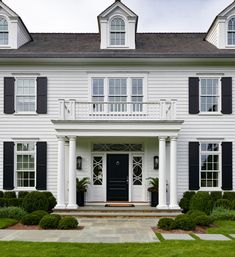 House Tour: Traditional Charm with Morgan Harrison White Shutters, House, Traditional Home Exteriors, House Exterior, Exterior Brick, Black Shutters, House Tours, Colonial Style, Colonial Style Homes