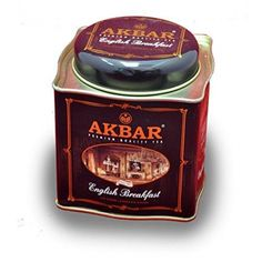 Akbar | English Breakfast Tea | Ceylon Black Tea | Premium Loose Leaf | Non GMO | Rich & Robust | 250g / 8.75 oz. tin Caddy | 125 servings  WHY IS AKBAR TEA DIFFERENT - Only the finest #tea #leaves go into a cup of Akbar Teas. Naturally rich in protective anti-oxidants and fresh from the best tea plantations around Sri Lanka, Akbar Teas have been consumed by millions worldwide for over 40 years. Akbar Brothers utilizes state-of-the-art machinery...