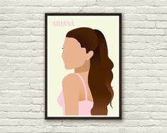 ARIANA GRANDE 8x11 in Original Art Print Poster by Inkshadow, $21.00