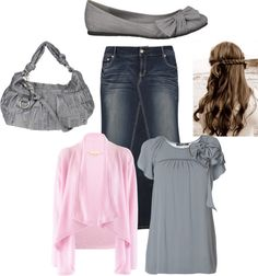 """""""Pink and Gray"""" by luvpurple2016 ❤ liked on Polyvore"""