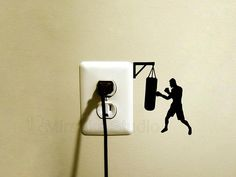 Items similar to Boxer Light Switch Fabric Sticker - Sports Decals - Boxing Teen Room Decor - Boxing Gift - Vinyl Laptop Decal - Boxing Gloves iPad Sticker on Etsy Creative Wall Painting, Creative Wall Decor, Wall Painting Decor, Creative Walls, Phone Decals, Laptop Decal, Wall Art Designs, Paint Designs, Wall Stickers