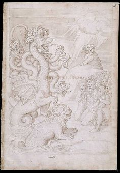Francisco de Holanda (Hollanda) - 'De Aetatibus Mundi Imagines'.  From 1543 to 1573 - Holanda sketched and painted designs intended to portray the history of the world according to the bible.