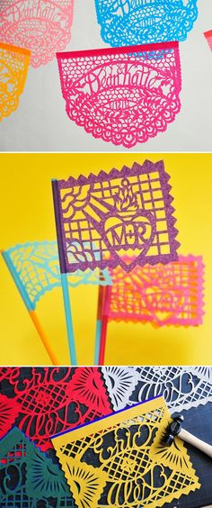 Picado Mexican paper flags for party/event decor