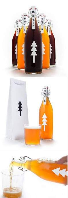 Ippon Matsu Beer | 34 Coolest Food Packaging Designs Of 2012 #packaging