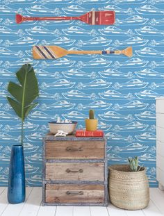 Boating Wallpaper in Pool. Boating is part of a collaboration with Aimée Wilder and Finnish fashion label Ivana Helsinki www.ivanahelsinki...