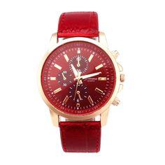 Women Leather Sport Wrist Watch