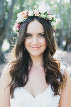 lovely floral crown // photos by Erin + Tara Photography