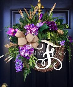 Shop for on Etsy, the place to express your creativity through the buying and selling of handmade and vintage goods. Summer Door Wreaths, Easter Wreaths, Wreaths For Front Door, Holiday Wreaths, Spring Wreaths, Diy Wreath, Ornament Wreath, Grapevine Wreath, Country Wreaths