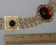 Sapphire & Sage - Renaissance Medieval Jeweled Collar/Carcanet of ...
