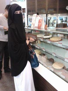 Niqabi enjoying herself
