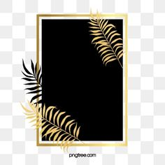 Black gold plant leaves border gold leaf PNG and PSD Autumn Leaves Background, Plant Background, Leaf Clipart, Frame Clipart, Painted Leaves, Hand Painted, Cartoon Leaf, Flower Line Drawings, Black And Gold Marble