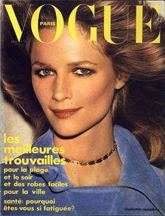 Charlotte Rampling pour le numéro de mai 1974 de Vogue Paris: http://www.vogue.fr/photo/les-couvertures-de/diaporama/le-cinema-en-couverture-de-vogue-paris/7774/image/517016#charlotte-rampling-pour-le-numero-de-mai-1974-de-vogue-paris