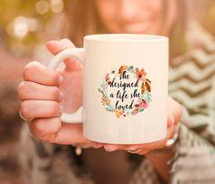 She designed a life she loved inspirational gift mug. New job mug. Office gift for boss. Motivational mug, gift for her. Office Gifts For Her, Gifts For Boss, Gifts In A Mug, Farewell Gift For Coworker, Farewell Gifts, Fundraising Events, Fundraising Ideas, Personalized Graduation Gifts, Secret Santa Gifts