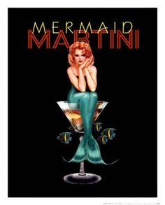 Mermaid Martini by Ralph Burch at Vintage Wall
