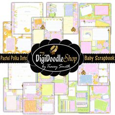 Baby Scrapbook  Printable Baby Book  Girl  Pages by DigiDoodleShop, $22.00