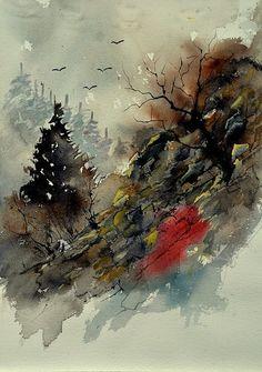 Artwork >> Pol Ledent >> watercolor 213040 #artwork, #masterpiece, #painting, #contemporary, #art, #nature