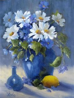 "Daily Paintworks - ""Blue"" - Original Fine Art for Sale - © Stevie Denny"