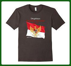 Mens Indonesia Independence Day, Dirgahayu Indonesia T-Shirt XL Asphalt - Holiday and seasonal shirts (*Amazon Partner-Link)