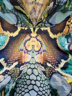 Alexander Mcqueen Archive Snakeskin Print Dress in Multicolor (multi) - Lyst