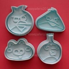 Angry Bird plunger cookie cutter 4 pcs. set
