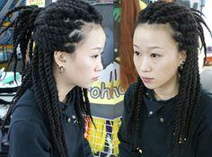 Dreadlocks on an Asian girl :: Shop DreadStop.Com for Premium Leather Dread Cuff #dreadstop