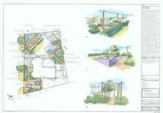 A garden design plan.