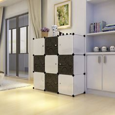 Steckregal kunststoff  Details zu DIY Kleiderschrank Kunststoff Garderobe Regalsystem ...