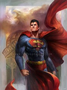 Superman, #Character, #FanArt, #Games, #Movies & #TV, #Paintings & #Airbrushing, #Superhero, #Superman