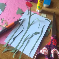 Paper collage art in process @harakrankkila