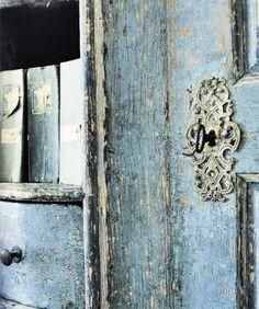 Aged Blue Paint