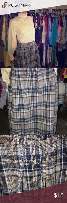 "Vintage Skirt Waist Laying Flat- 14"" Length Laying Flat - 28"" Zip Back (zip head broken, easy to replace) Skirts Midi"