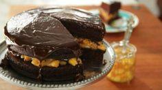 Gâteau au chocolat et à la compote aux bananes