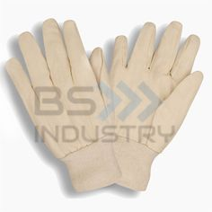 Mechanic Gloves, Genuine Cowhide Leather Working Glove with Elastic Wrist for Men & Women - Good Grip & Flexible