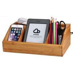 Amazon.com: Bamboo Charging Station /Desk Organizer Storage Compartment Multifunctional Bamboo Mesh Desk Tidy Organizer Desktop Stationery Storage Box Collection Business Card Pen Mobile Phone Remote Control Holder Desk Supplies Organizer for Smartphones&Tablets  (Organizer): Cell Phones & Accessories