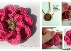 How to Crochet 3D Flowers with Multi Petals