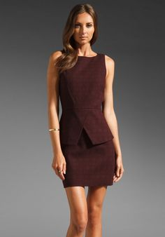 Tibi Asher Sleeveless Dress in Burgundy Multi