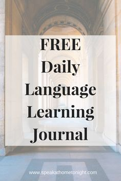 Learn German Fast, Get Fluent Fast, Free Daily Language Journal Ways Of Learning, Learning Italian, Learning Resources, Learning Spanish, Learning Japanese, German Language Learning, Language Study, Learn A New Language, Spanish Language