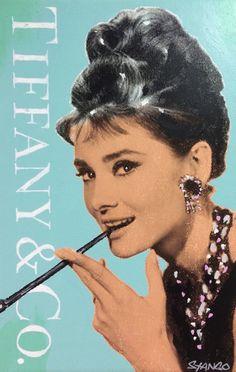 John Stango •Audrey Hepburn Tiffany •48 X 36 •Acrylic on Canvas // 408.888.1500 //jcos.hello@gmail for acquisition info