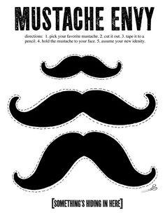 Mustaches, free printable