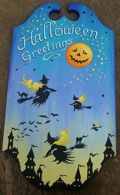 Halloween Greetings Tavern Sign by Grim Prim's Deborah Sweigart